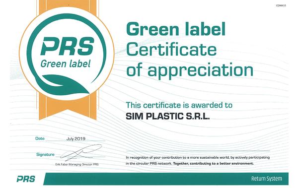PRS Green Label Simplastic